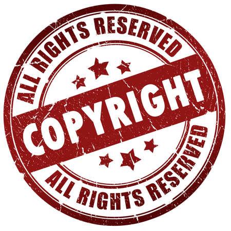 Auteursrecht aanduiding  Stockfoto