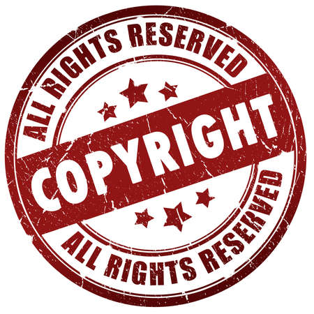 copyrighted: Copyright stamp