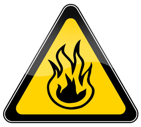 Fire risk warning sign photo