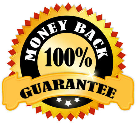 gold money: Money back guarantee Stock Photo