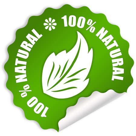 Natural eco sticker photo