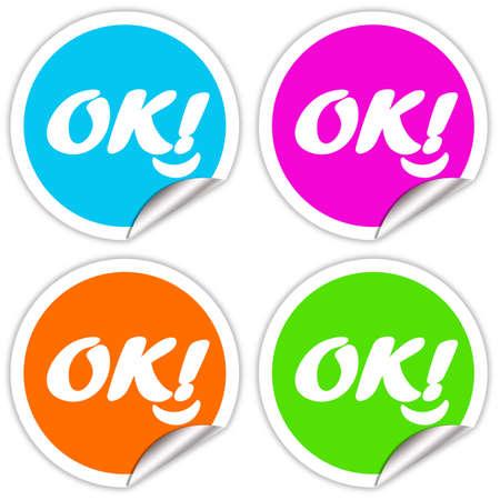 Ok stickers set Stock Photo - 6597608