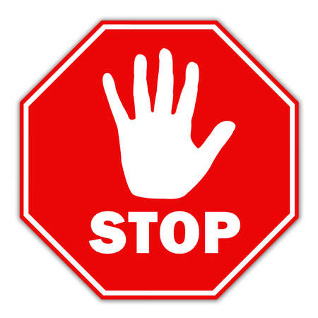 with stop sign: Stop sign Stock Photo