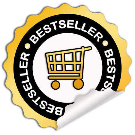 top seller: Bestseller sticker Stock Photo