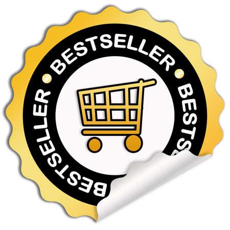 best seller: Bestseller sticker Stock Photo