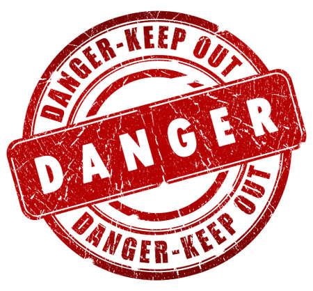 endanger: Danger stamp