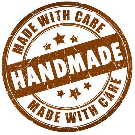crafted: Handmade stamp Stock Photo