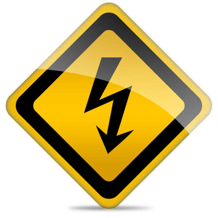 voltage danger icon: High voltage sign Stock Photo