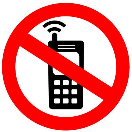 prohibido: Ninguna se�al de tel�fono celular  Foto de archivo