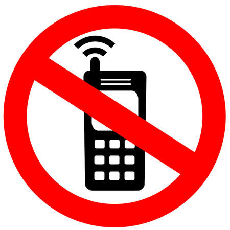 cellular telephone: No cell phone sign