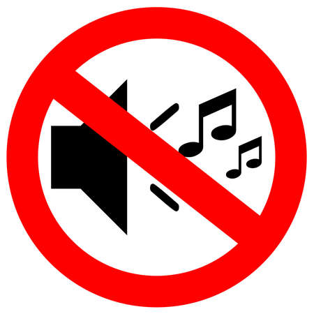 keep silent: Nessun segno di musica  Archivio Fotografico