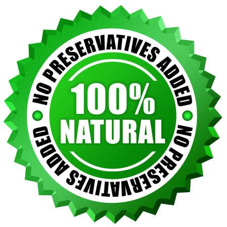 No preservatives label photo
