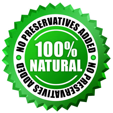preservatives: No preservatives label Stock Photo
