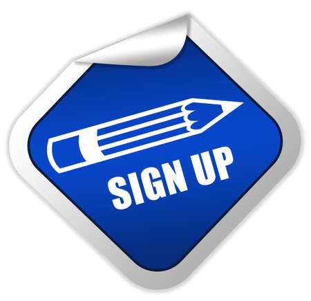 Sign up icon photo
