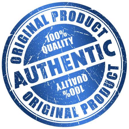 Authentic stamp photo