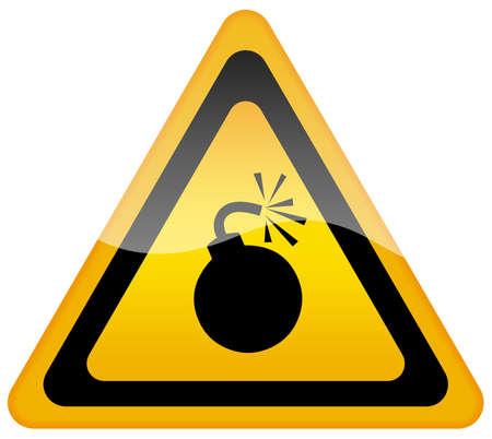 bombe: Panneau de signalisation de bombe Banque d'images