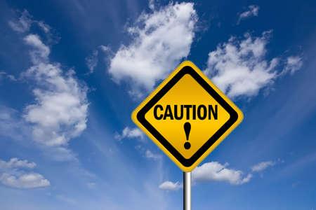 Caution warning sign Stock Photo - 7426685