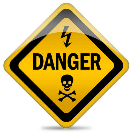 volte: Danger warning sign