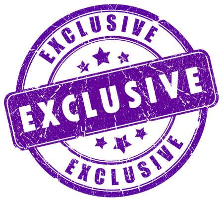 exclusive: Exclusive stamp Stock Photo