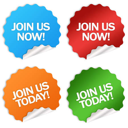 Join us stickers Stock Photo - 7426718