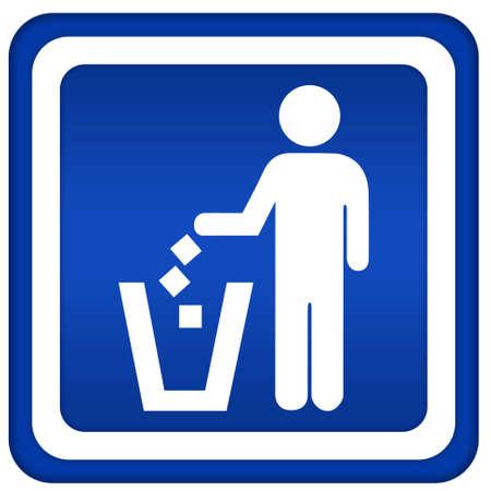 poubelle bleue: Aucun d�chets sauvages
