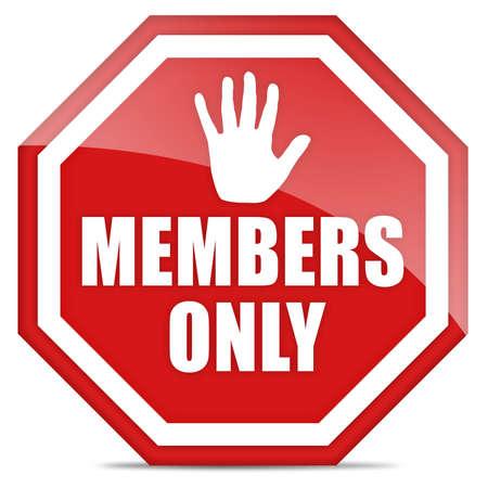membres: Les membres seulement signent  Banque d'images