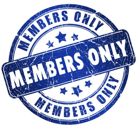 vip area: Members only stamp
