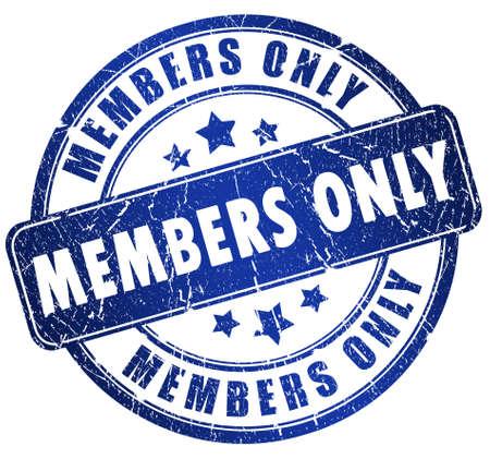 Timbre uniquement de membres  Banque d'images