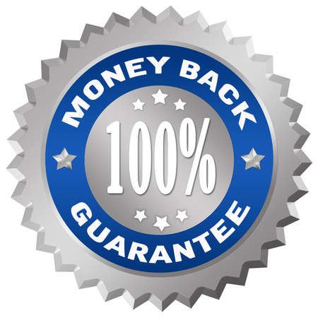 percentage sign: Money back guarantee Stock Photo