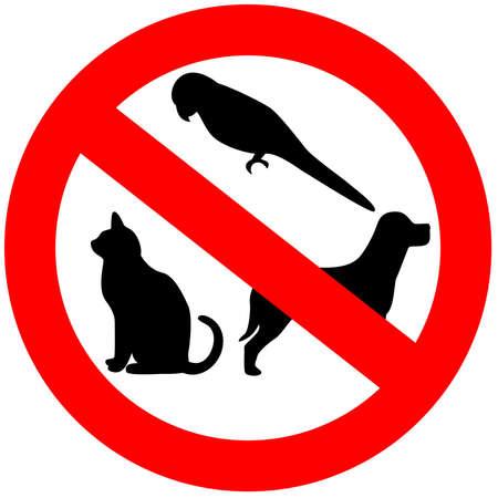 prohibido: Ning�n signo de animales  Foto de archivo