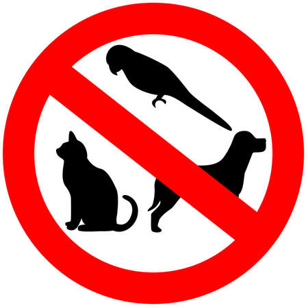 animals and pets: No animals sign