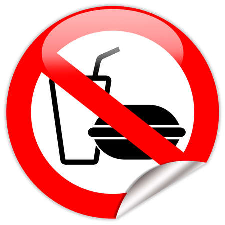 is prohibited: No comer y beber signo