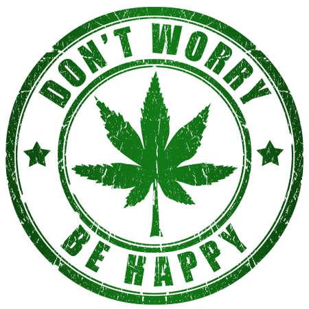 marijuana leaf: Rastaman stamp