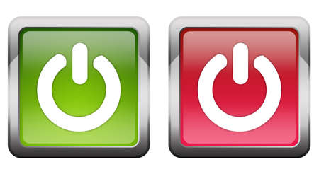 Turn on off button Stock Photo - 7426712