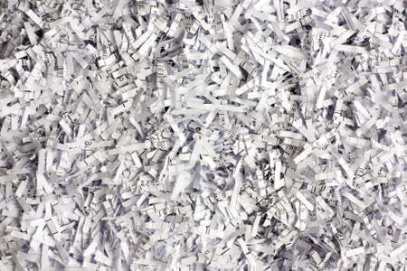 Shredded documents, office background photo