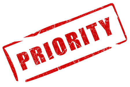 Priority stamp photo