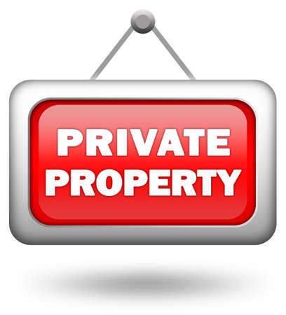 Private property sign Stock Photo - 7426715