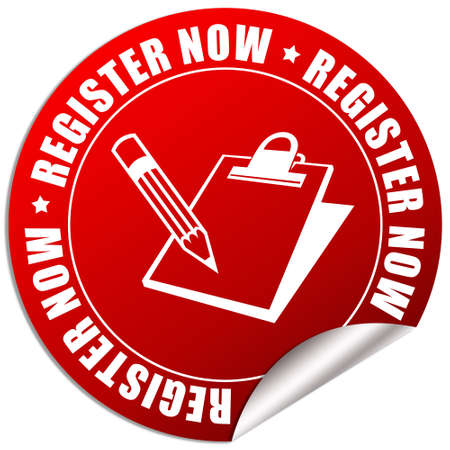 registration: Register now icon Stock Photo