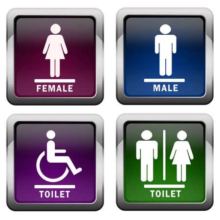 Restroom icons Stock Photo - 7426719