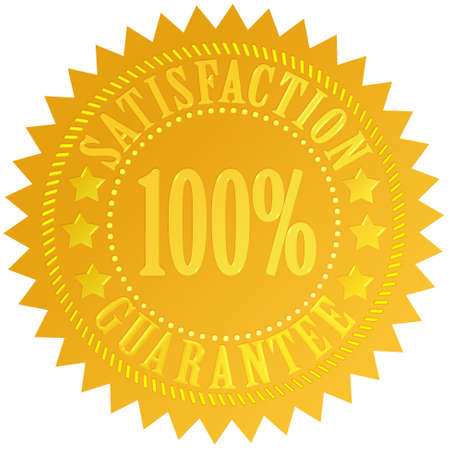 Satisfaction guarantee icon photo