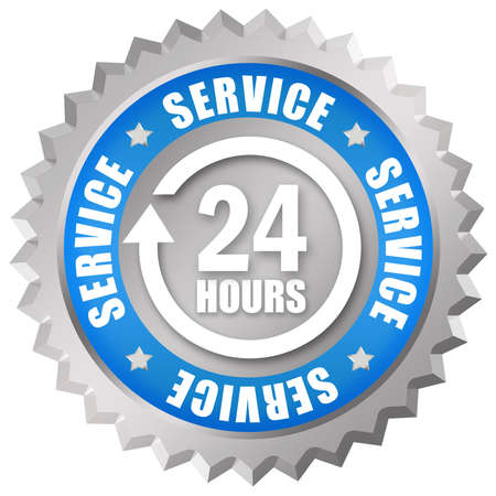 customer service icon: Service 24 hours Stock Photo