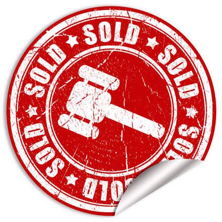 Sold sticker Stock Photo - 7466257