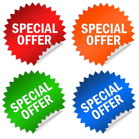 Special offer sticker photo
