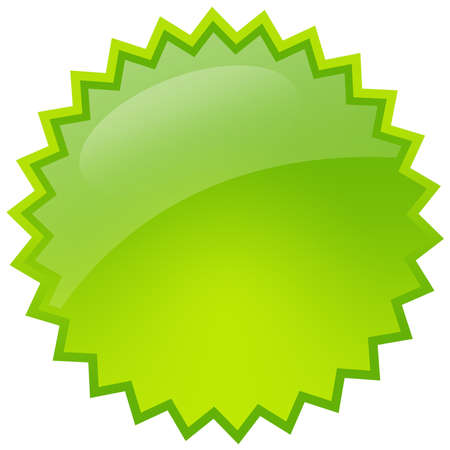 badge logo: Green splash star Stock Photo
