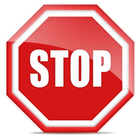 admitted: Stop sign Stock Photo