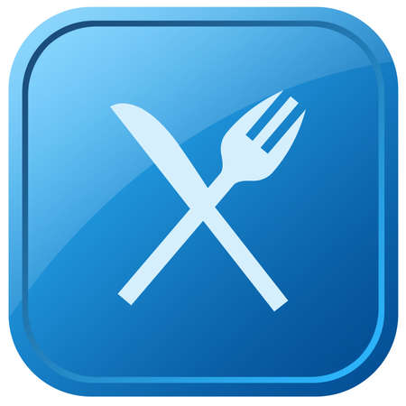 staying in shape: Knife and fork icon