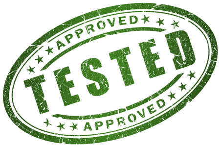 approbation: Tested stamp
