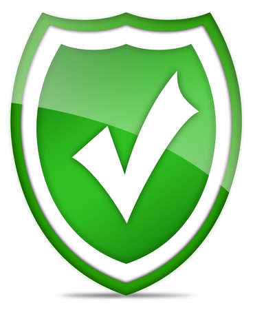 Tick shield icon Stock Photo - 7466246