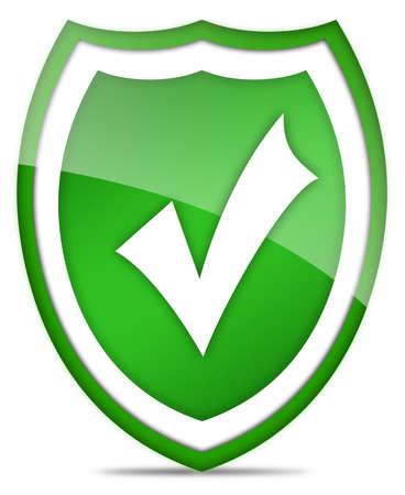 verified: Tick shield icon