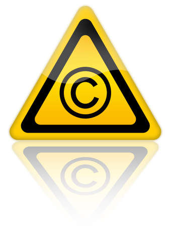 plagiarism: Copyrigth icon Stock Photo
